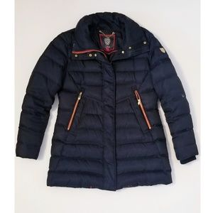 Vince Camuto Navy Blue Gold Puffer Winter Jacket M